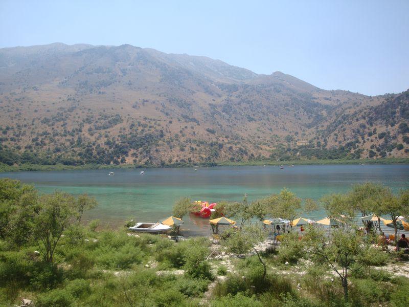 012. Lake Kournas - (Η λίμνη Κουρνά). View from tavern
