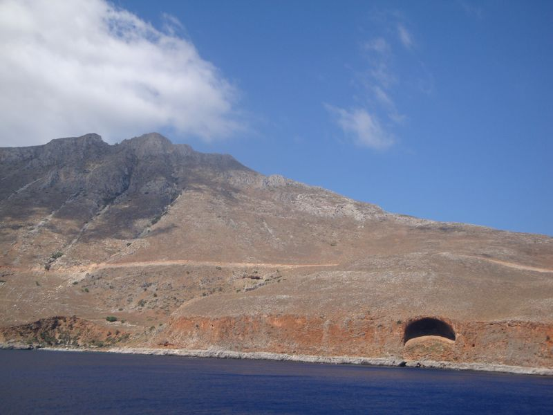 021. Cyclop's Cave - Does Ιt look like a mouth? Voyage to the Gramvousa Fortress (Γραμβούσα) and Balos (Μπάλος) Bay. The North-Western tip of Crete.