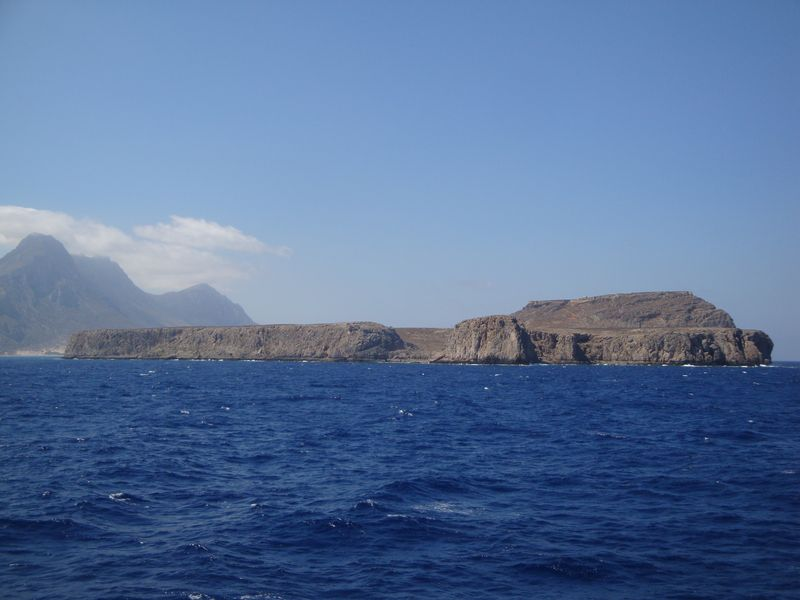 025. Gramvousa Fortress from afar - Gramvousa-Balos cruise. The North-Western tip of Crete