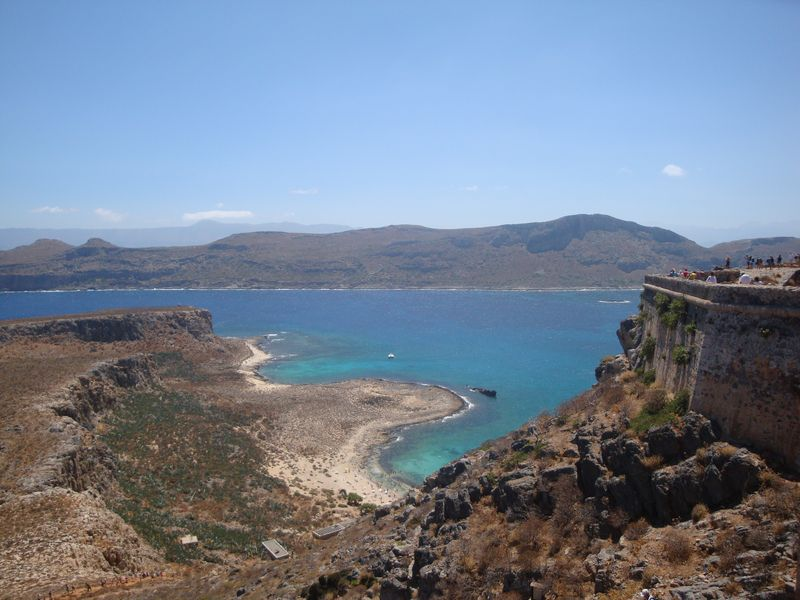 028. The fortified wall of the Venetian castle - Gramvousa-Balos cruise. The North-Western tip of Crete