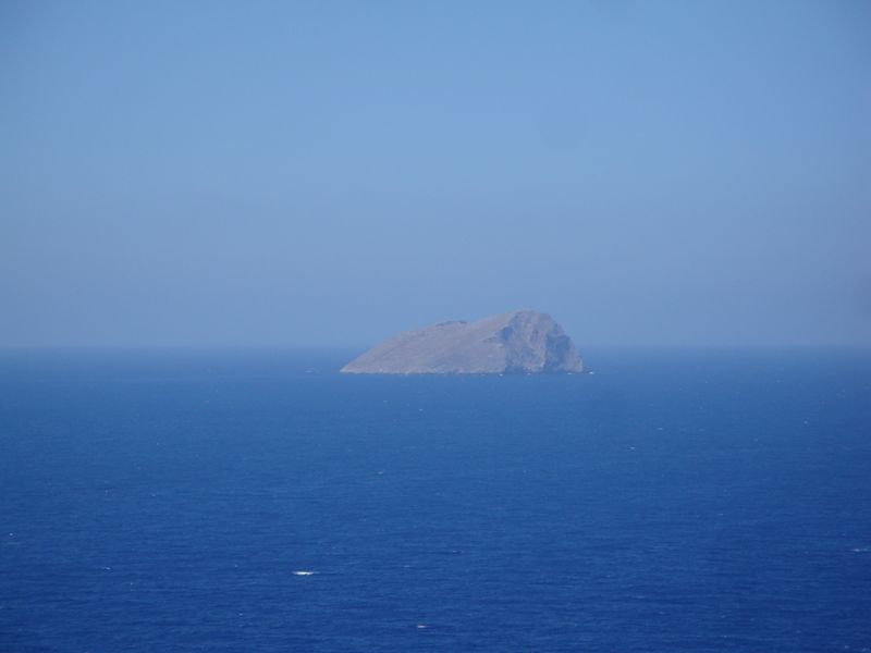 030. Lonely rock in a blue sea - Gramvousa-Balos cruise. The North-Western tip of Crete