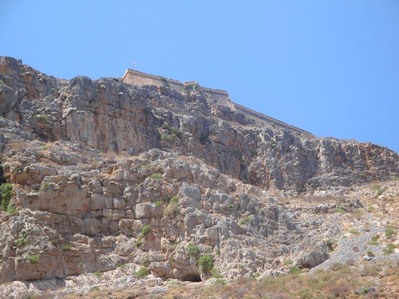 034. View of Gramvousa Fortress from the shore - Gramvousa-Balos cruise. The North-Western tip of Crete