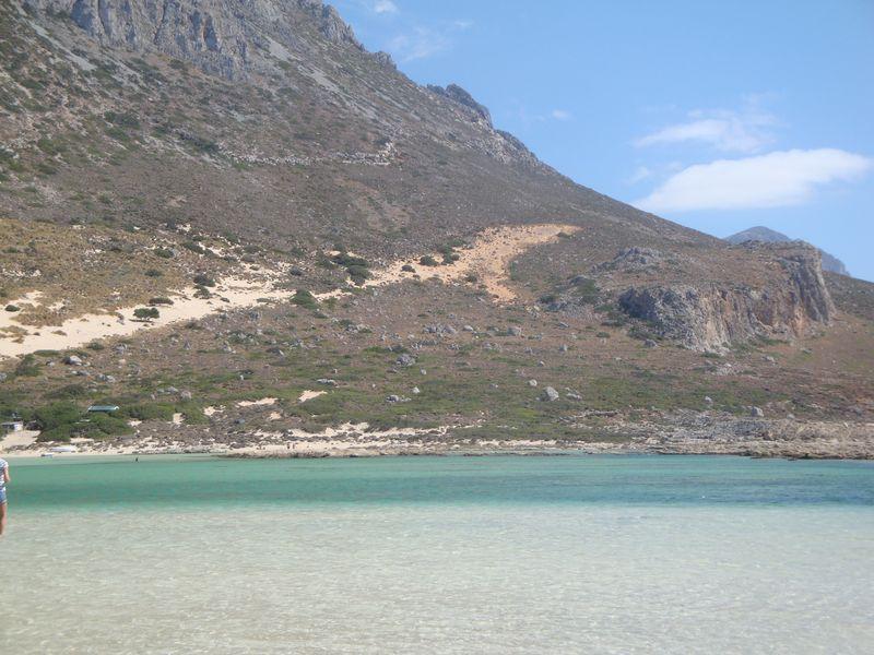 040. The hues of green of Balos Bay - Gramvousa-Balos cruise. The North-Western tip of Crete