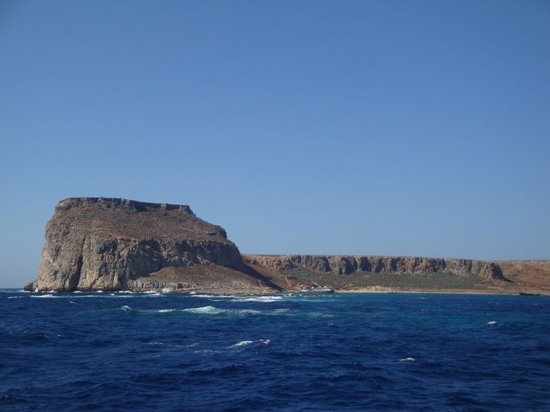 041. Gramvousa Fortress against the background of blue see - Gramvousa-Balos cruise. The North-Western tip of Crete