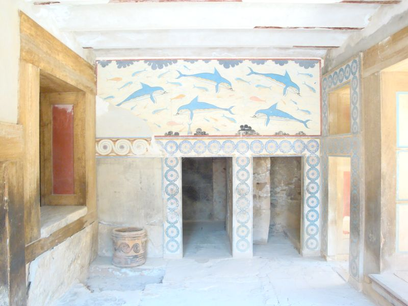 064. Beautiful dolphins in the Queen's Hall - Knossos (Κνωσσός)