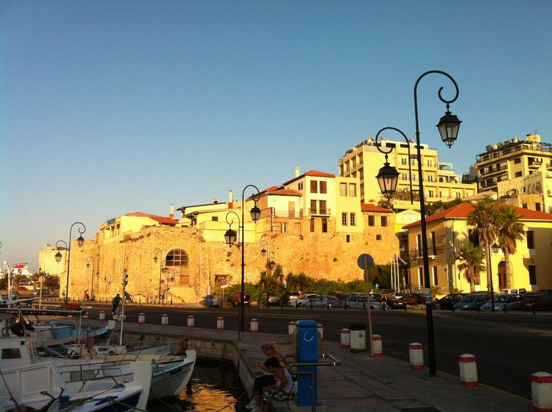 109. Sunset over Venetian harbor in Heraklion -