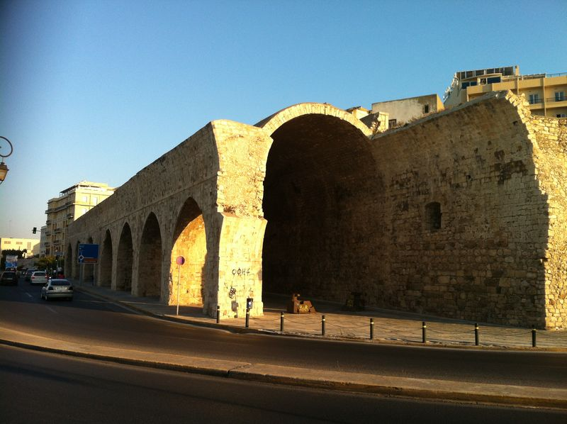 110. Arches of Venetian harbor - It used for warehouses before. Heraklion (Ηράκλειο)