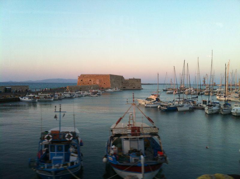112. View of Koules Fortress - (Greek: Κουλές, Italian: Rocca al Mare). Heraklion (Greek: Ηράκλειο)