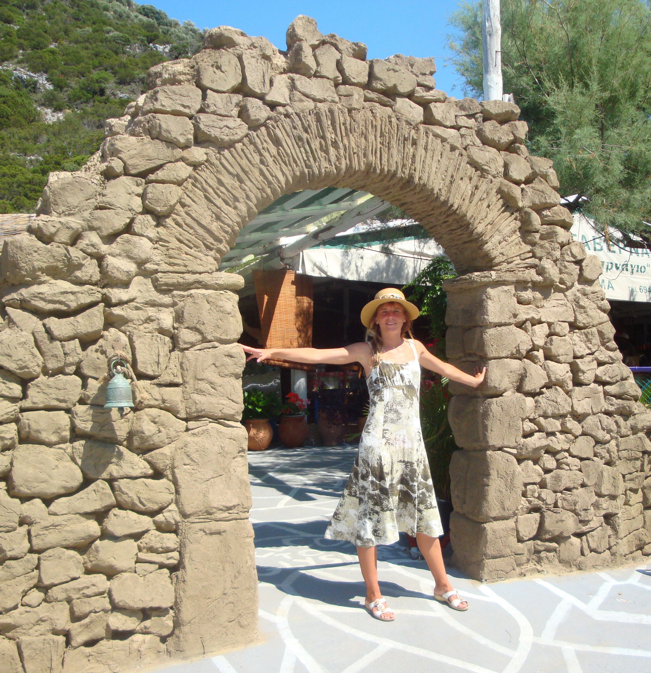 Arc of Villa Donna - This arc was moved from the Villa Donna to Glysteri beach (Γλυστέρι)