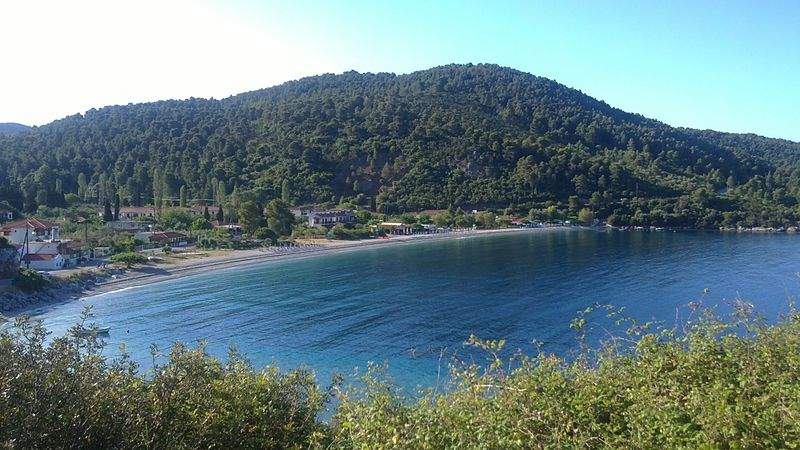 016. View of morning Panormos Bay (Πάνορμος) -