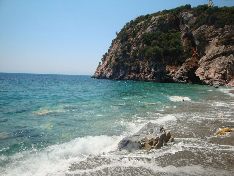 046. The other part of it belongs to nudists - Wild and beautiful Velanio beach (Βελανιό)