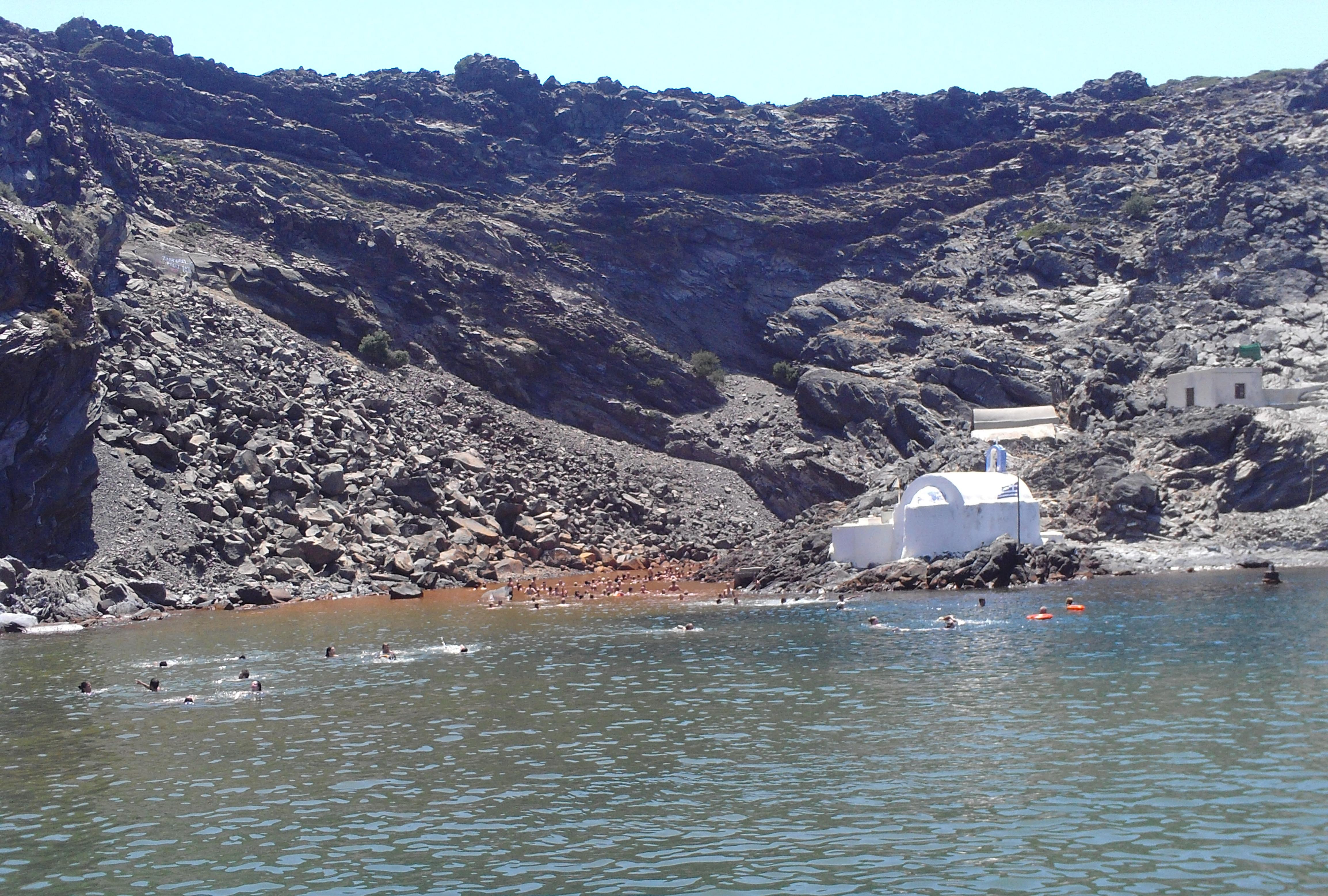 11. Holy thermal spring - Palea Kameni islet (η Παλαιά Καμένη), Santorini