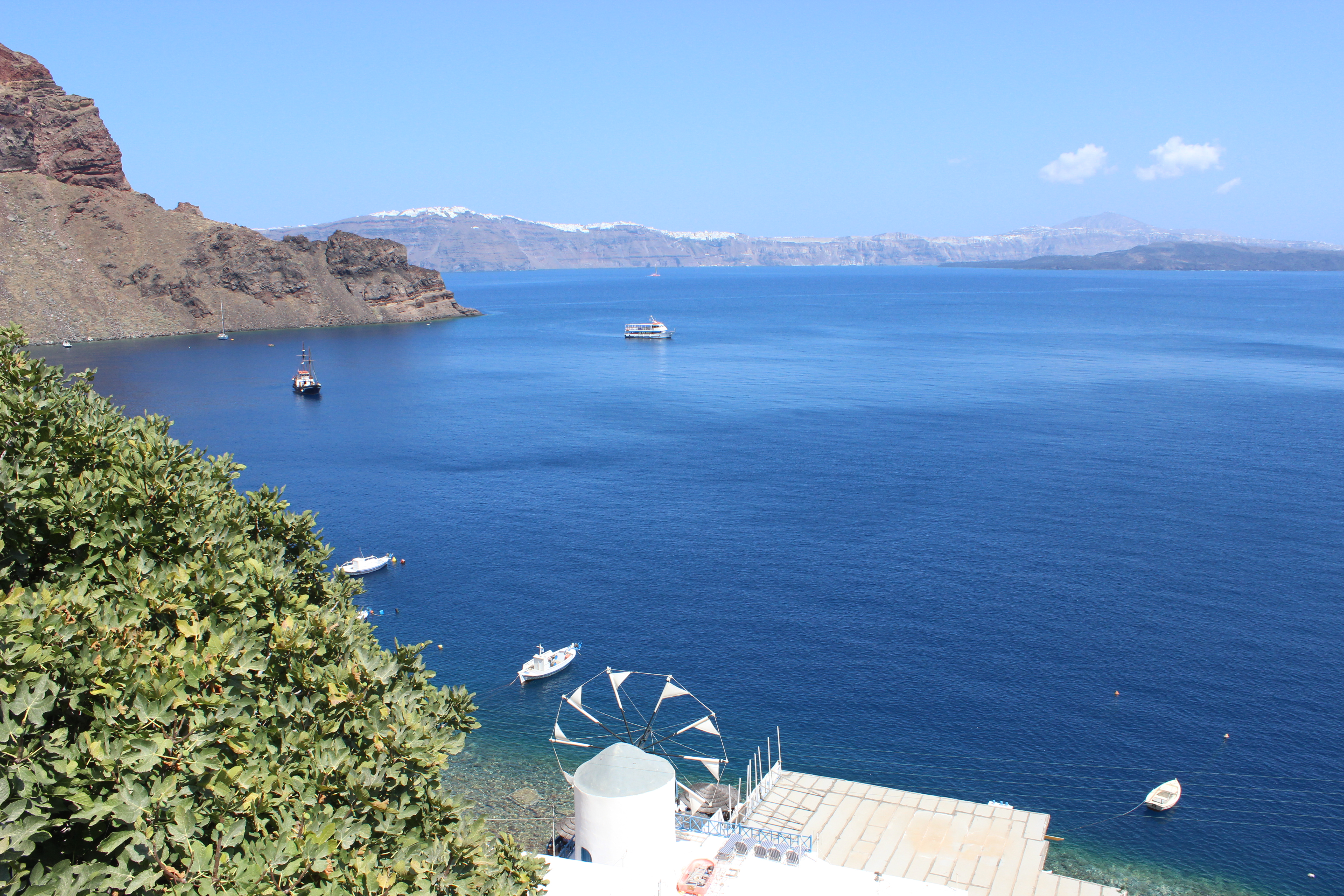 12. Deep blue waters of Therasia Island - (Θηρασία). Works fine for swimming!