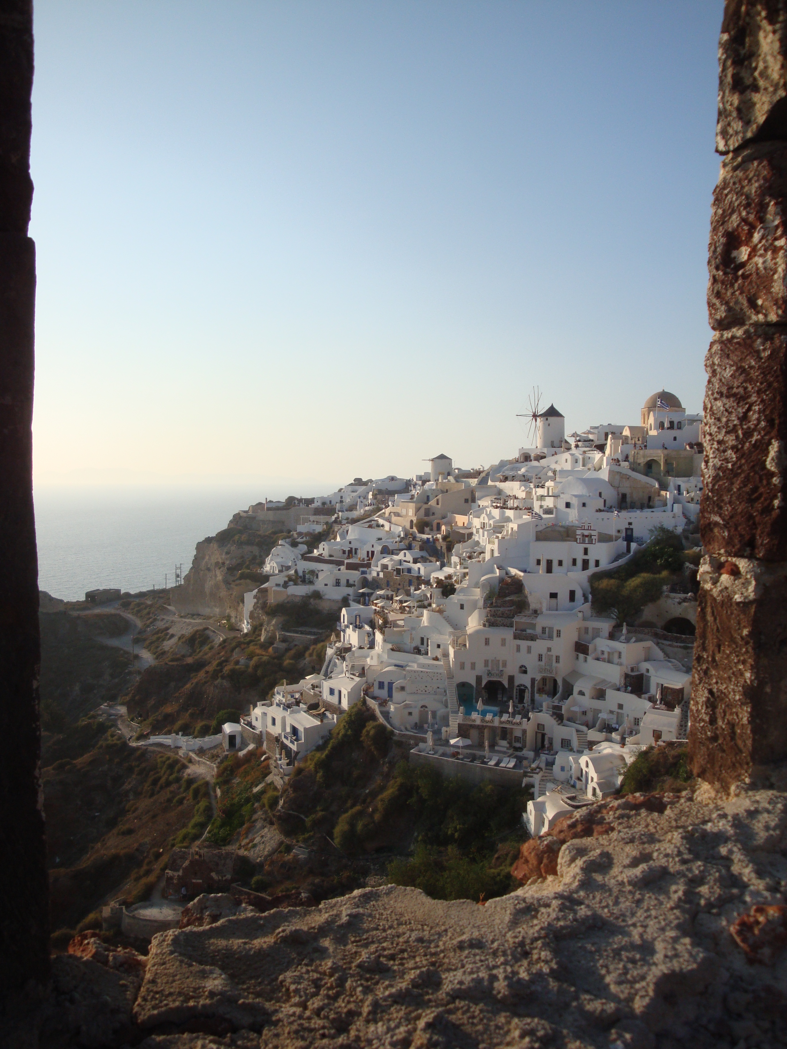 23. View of Oia from the ruins of the castle - Santorini