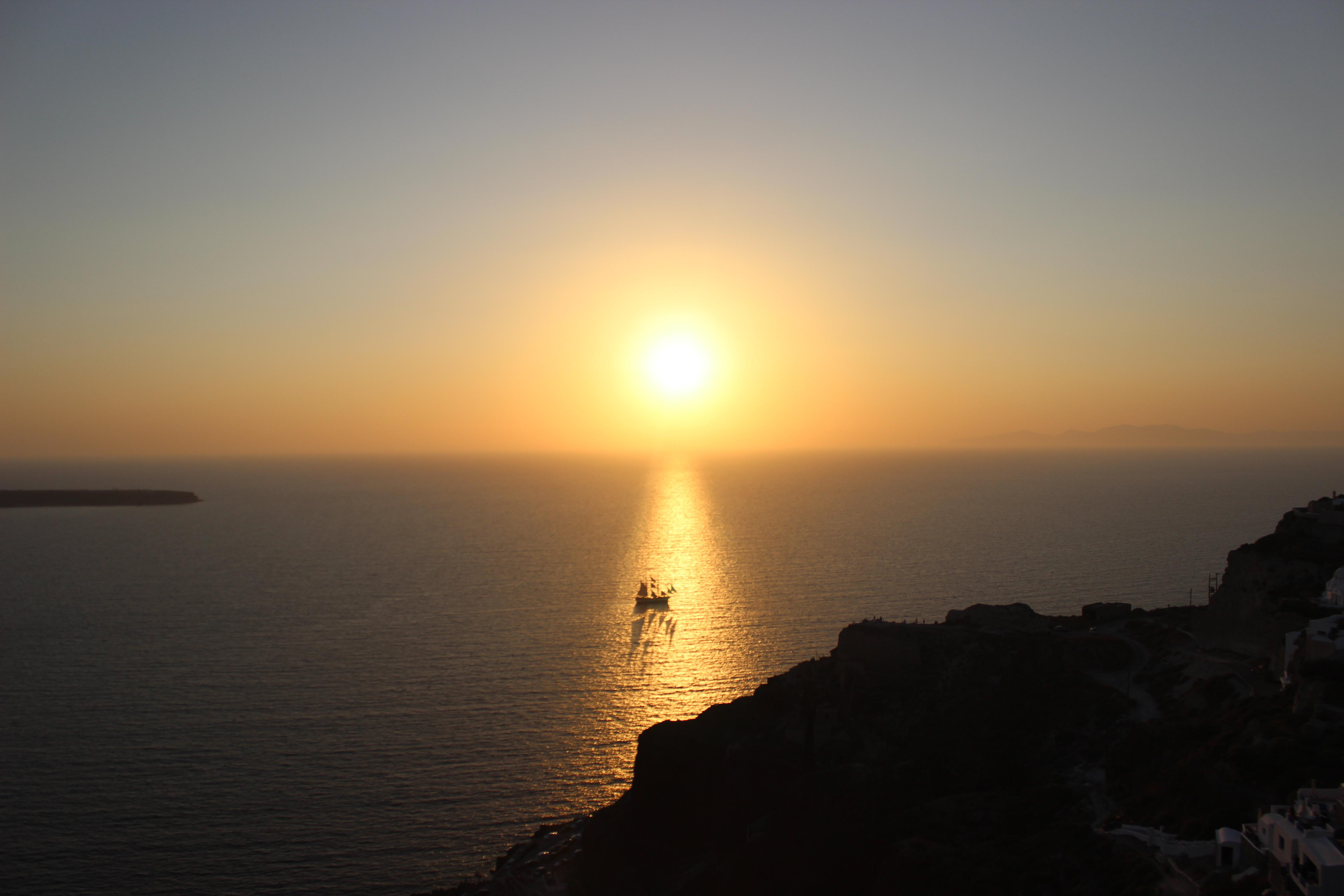 30. Sailing into the Sunset - Oia, Santorini