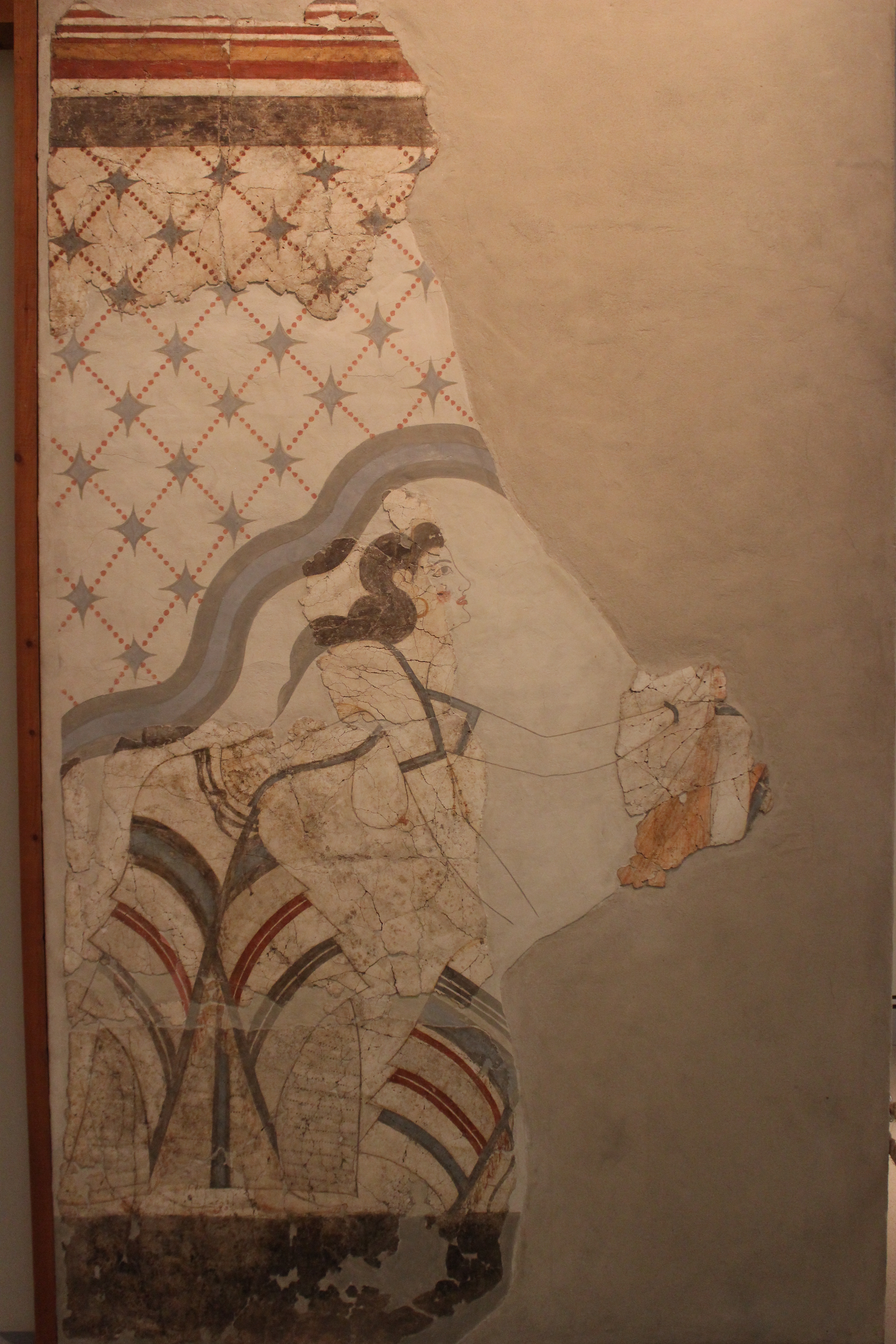 36. Fresco «Minoan lady» - Akrotiri (Ακρωτήρι). Museum of Firá, Santorini