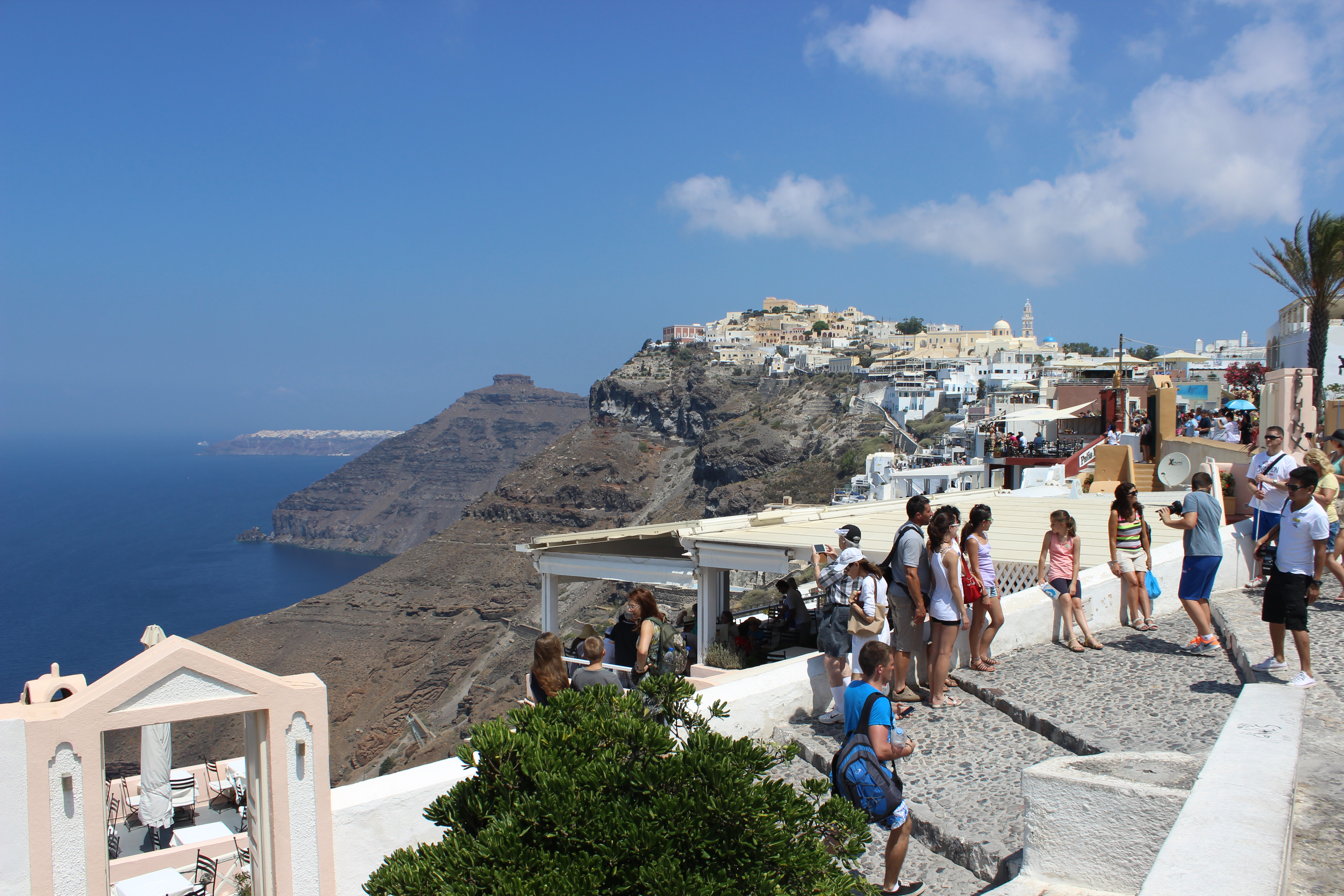47. Embankment in front of the main cathedral of Firá - Santorini