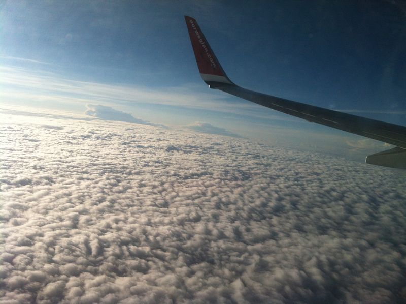 001. Sky in the snowdrifts - On the way from Helsinki to Crete, Norwegian Air.