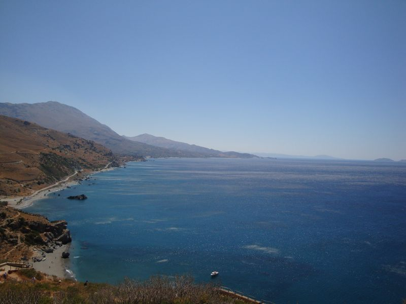 041. Marine blue - The bright blue of the sea is the unique feature of South Crete!