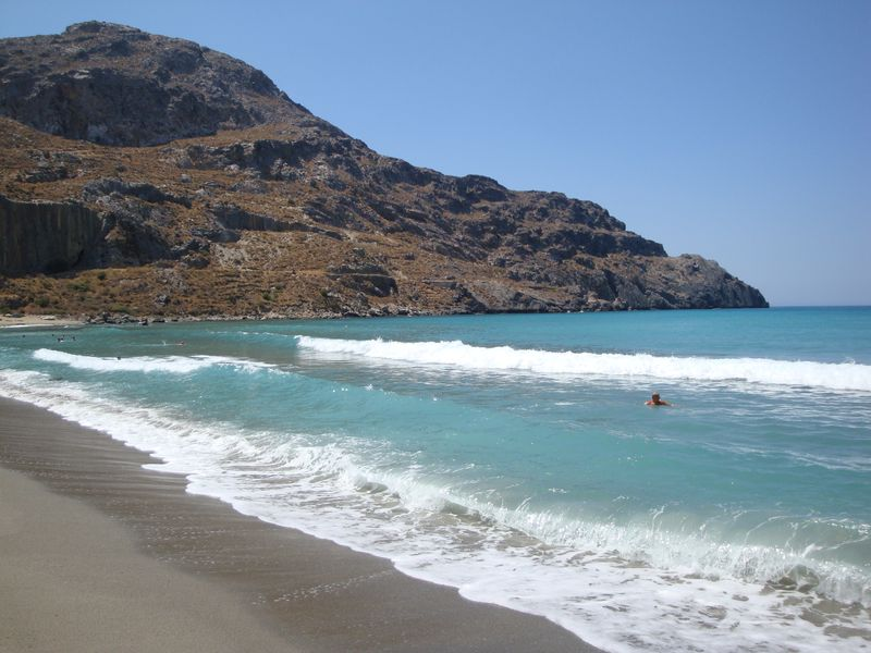 065. Long run - Roughness at the Plakias bay (Πλακιάς), South Crete.