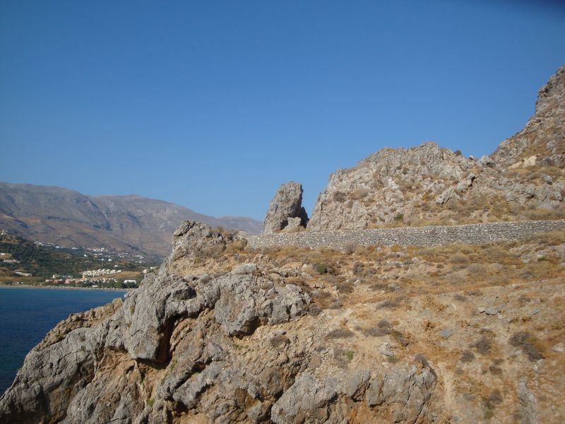 070. En-route of coal - The left edge of Plakias beach, South Crete.