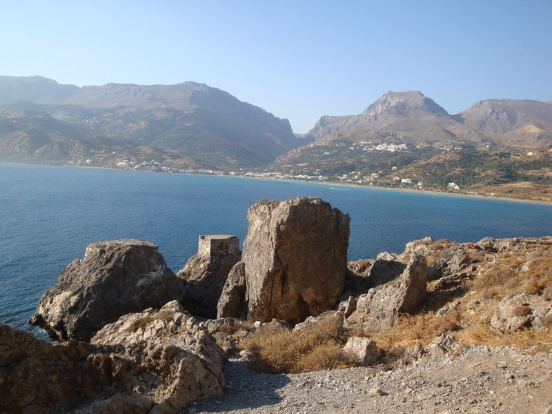 073. Remains of the port facilities - The left edge of Plakias beach, South Crete.