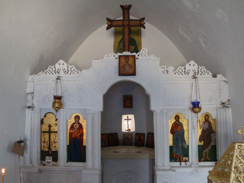 083. Iconostasis - Timios Stavros Church (Τίμιος Σταυρός). Skinaria village (Σκινάρια, Ρέθυμνο), South Crete.