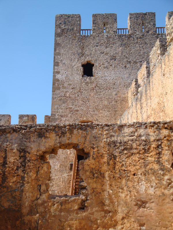 103. Frangokastello fortress, Chania (το κάστρο Φραγκοκάστελλο, Χανιά) - The fortress is preserved quite well. There is a stage in the fortress now. Venetians were the first people who tried to build the fortress. However, freedom-loving locals resisted the construction. They killed workers and destroyed what they built during a day. The fortress was completed only after Venetians brought their troops to the area. In the days of Turkish occupation, there were cruel battles. In the bloodiest battle on the night of May 16-17 all Greek rebels were killed. Every year at dawn of May 17 an unexplainable phenomenon is observed. You can see shadows of brave dismounted warriors and cavaliers and there is still no scientific explanation of this phenomenon that was registered many times!