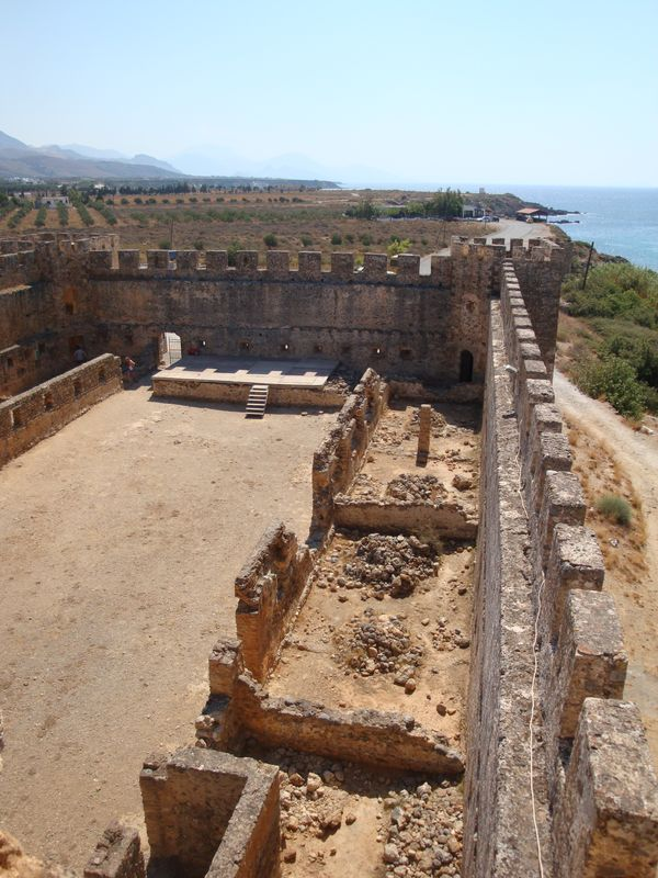 106. Top view of the stage - Frangokastello fortress, Chania (το κάστρο Φραγκοκάστελλο, Χανιά), South Crete.